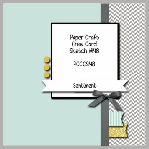Paper Craft Crew Card Sketch 148. #stampinup #papercraftcrew