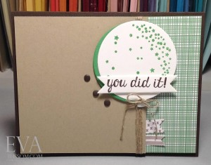 Paper Craft Crew Card Sketch #148 design team submission by Eva Bussom. #stampinup #papercraftcrew #evabussom