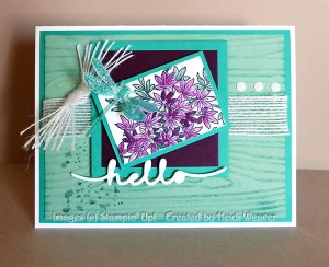 Paper Craft Crew Card Sketch #150 design team submission by Heidi Weaver. #stampinup #papercraftcrew #heidiweaver
