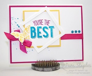 Paper Craft Crew Card Sketch #150 design team submission by Pam Staples. #stampinup #papercrafts #pamstaples #sunnygirlscraps
