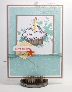 Paper Craft Crew Card Sketch #155 design team submission by Pam Staples. #stampinup #papercrafts #pamstaples #sunnygirlscraps