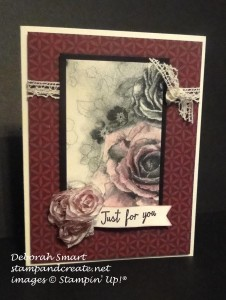 Paper Craft Crew Card Sketch #158 design team submission by Deb Smart. #stampinup #papercraftcrew #deborahsmart