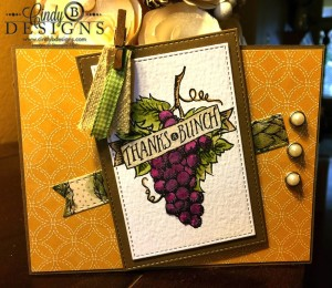 Paper Craft Crew Card Sketch #156 design team submission by Cindy Blancett Coutts. #stampinup