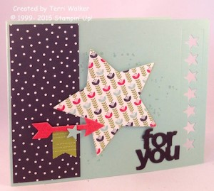 Paper Craft Crew Card Sketch #159 design team submission by Terri Walker. #stampinup #papercraftcrew #terriwalker