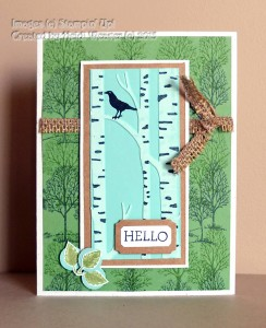 Paper Craft Crew Card Sketch #158 design team submission by Heidi Weaver. #stampinup #papercraftcrew #heidiweaver