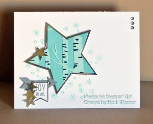 Paper Craft Crew Card Sketch #159 design team submission by Heidi Weaver. #stampinup #papercraftcrew #heidiweaver