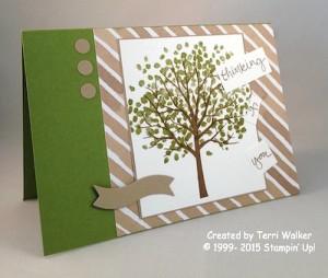 Paper Craft Crew Card Sketch #156 design team submission by Terri Walker. #stampinup #papercraftcrew #terriwalker