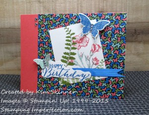 Paper Craft Crew Card Sketch #156 design team submission by Kim Skinner. #stampinup #papercraftcrew #kimskinner