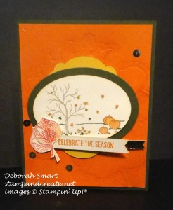 Paper Craft Crew Card Sketch #161 design team submission by Deb Smart. #stampinup #papercraftcrew #deborahsmart