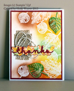 Paper Craft Crew Challenge #166 design team submission by Heidi Weaver. #stampinup #papercraftcrew #heidiweaver