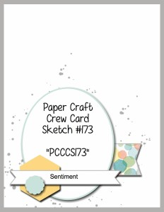 Paper Craft Crew Challenge 173. #papercraftcrew #cardsketch