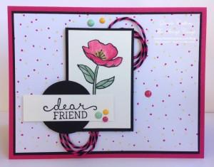 Birthday Blooms PCCC182 Paper Craft Crew Design Team submission by Glenda Calkins for Sketch Challenge 182  v01. #glendacalkins #stampinup #themechallenge #papercraftcrew