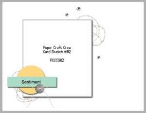 Paper Craft Crew Card Sketch 182