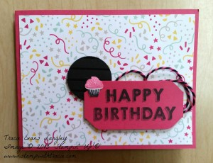 PCCC It's My Party 185 submitted by Tracie Langley.  #tracielangley #stampinup #papercraftcrew #cardsketch