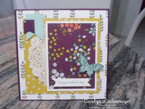 Paper Craft Crew Sketch Challenge 191 design team submission by Carolyn Lindenmayer. #stampinup #carolinelindenmayer