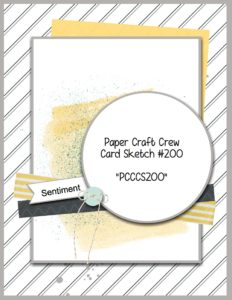 Welcome to the Paper Craft Crew Sketch Challenge 200. Play along at www.papercraftcrew.com #papercraftcrew #sketch