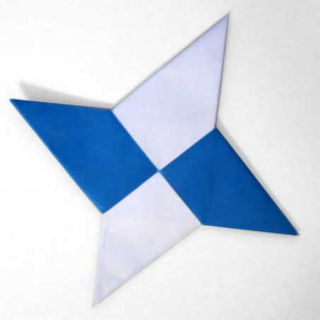 How To Make An Origami Ninja Star Papercrafty