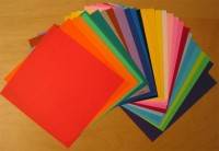 Muji plain origami paper - colours