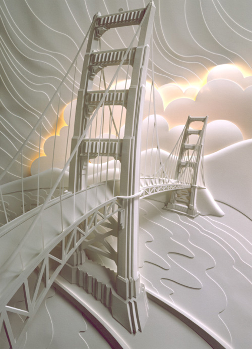 Paper sculpture by Jeff Nishinaka.