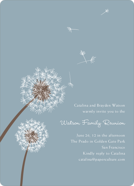 Dandelion Party Invitations Paper Culture