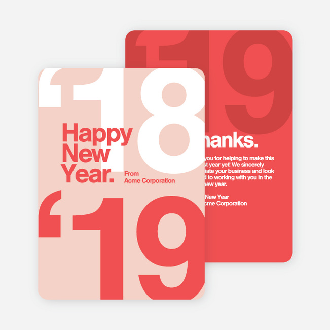 Bold Beginnings Corporate New Year Cards Paper Culture
