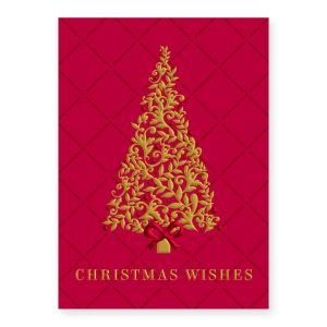 Burgundy Tree Boxed Holiday Greeting Cards PaperDirects