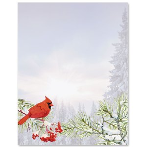 Forest Cardinal Border Papers PaperDirects