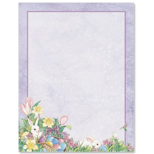 Easter Bunny Border Papers PaperDirects