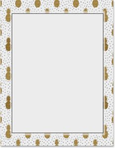 Use This Royal Pineapple Border Paper As A Fun Background