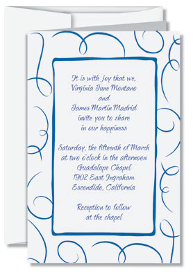 Traditional Wedding Invitation Wording Etiquette Loops Flat Invitations By Paperdirect
