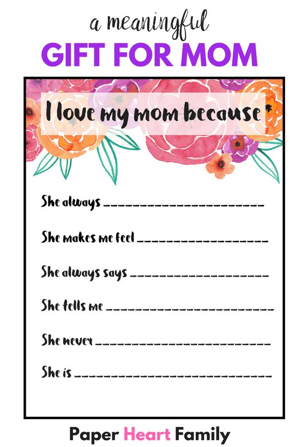 I love my mom because- reasons why i love my mom