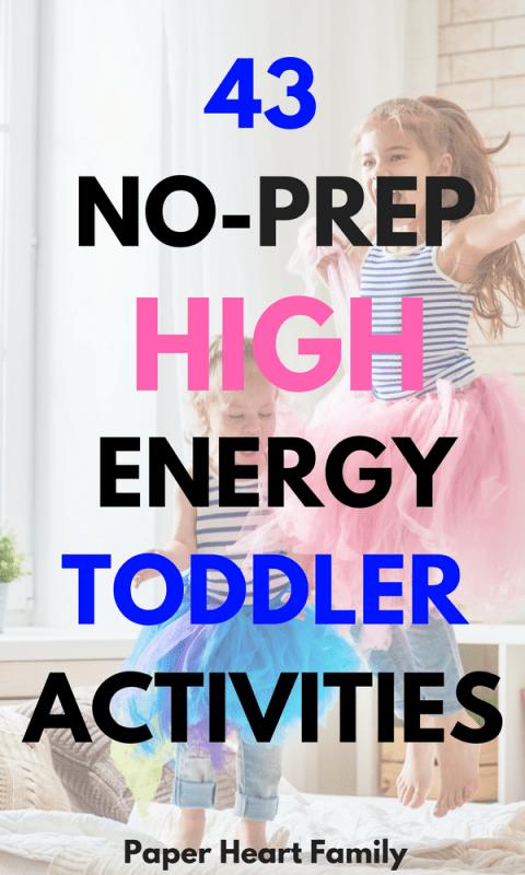 High Energy, Active Toddler Activities