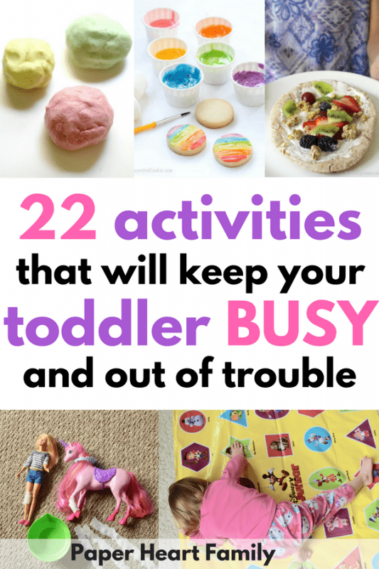 Toddler Fun: 22 Activities to Keep Toddlers Busy and Out of Trouble