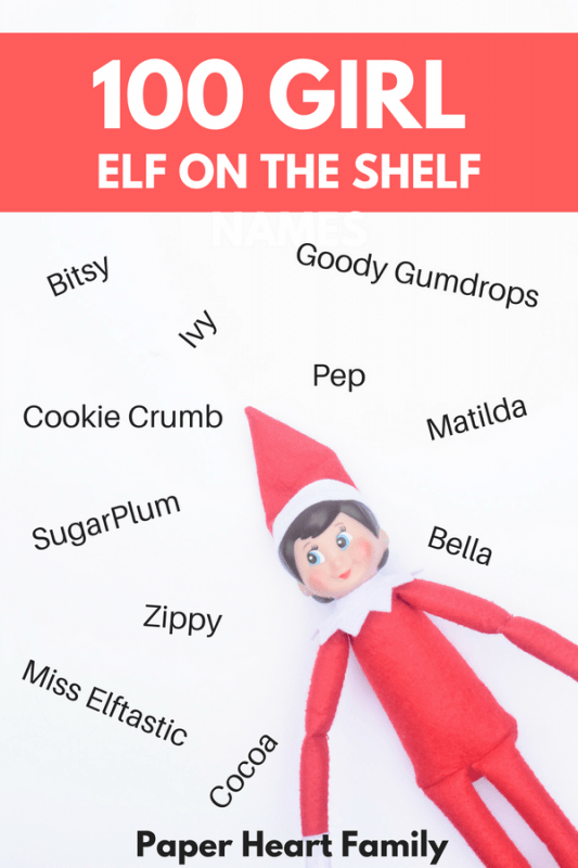 Need some elf name inspiration? Get over 100 girl Elf on the Shelf name ideas.