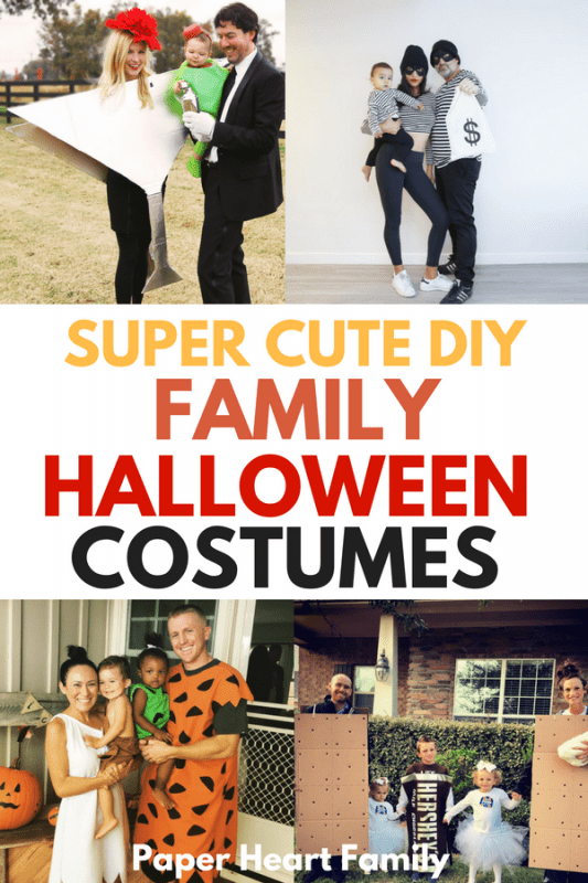 DIY family Halloween costume inspiration for your Halloween festivities!