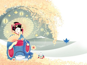 Geisha-Japanese-Art-Wallpaper