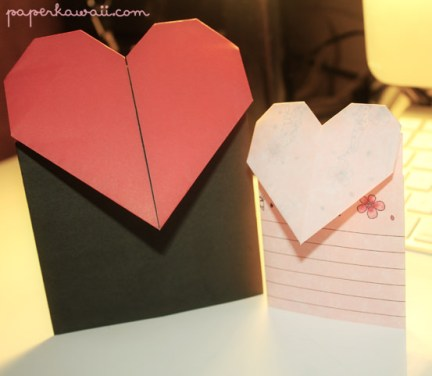 Origami Valentines Day Heart Card Tutorial