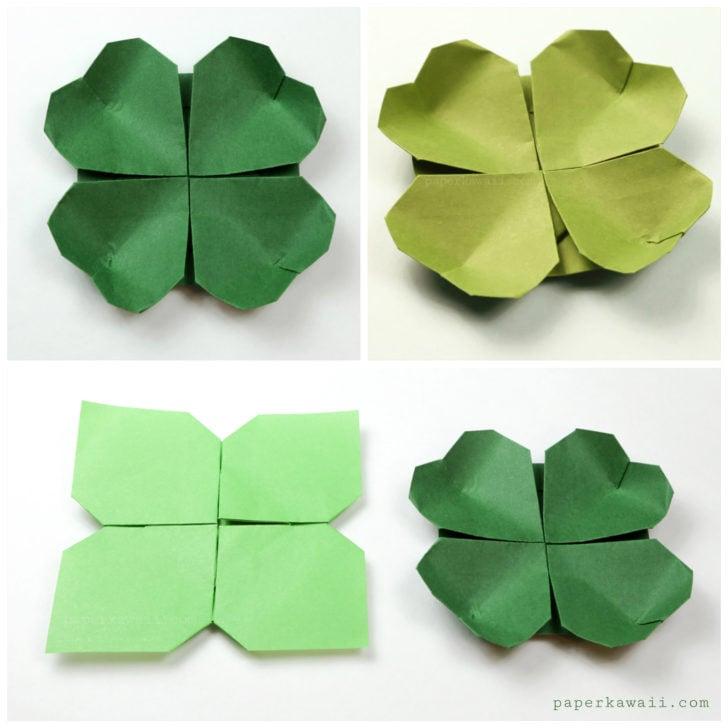 origami shamrock instructions