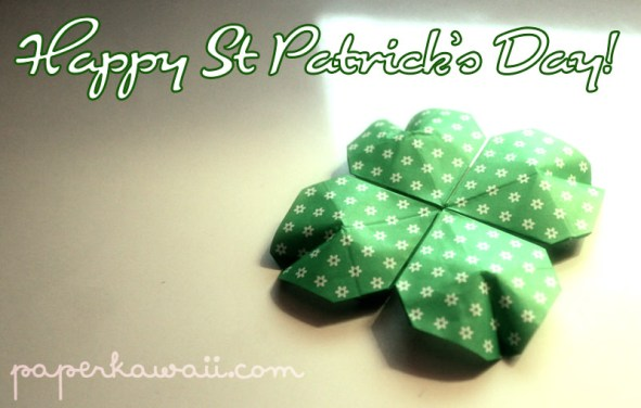 Origami Shamrock for St Patrick's Day