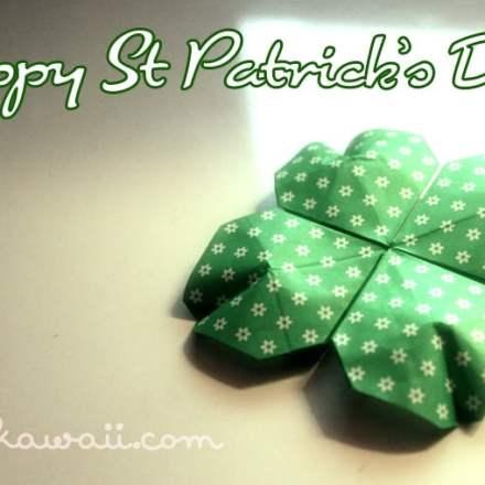 Origami Shamrock for St Patrick's Day via @paper_kawaii