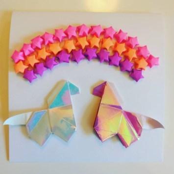 origami horse and stars, photo by chronostyphoon