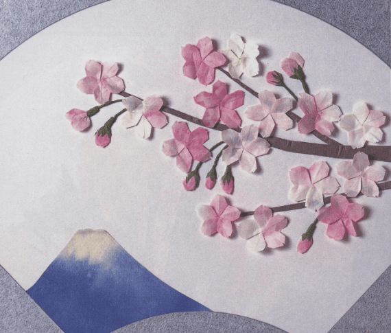 Origami Cherry Blossom Tutorial via @paper_kawaii