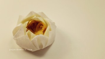 Easy origami lotus tutorial 03