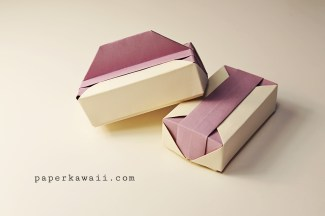 Origami Gift Box - Tutorial Video via @paper_kawaii