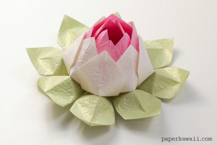 DIY Paper Flower Tutorial step by step - Beautiful Origami Lotus ... | 485x728