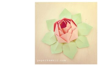 Modular Origami Lotus Flower - Video Tutorial via @paper_kawaii