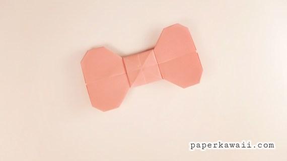 Easy Origami Bow Tutorial via @paper_kawaii
