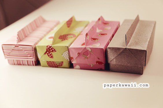 Origami Long Box & Lid with Handle