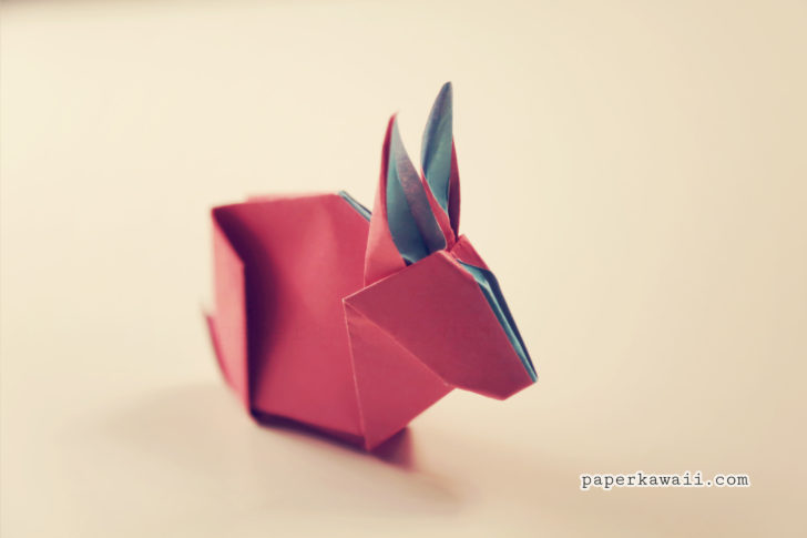 Origami Bunny Rabbit Tutorial & Diagram via @paper_kawaii
