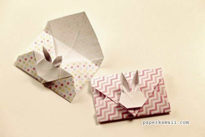 Origami Bunny Rabbit Envelope Tutorial V2 via @paper_kawaii